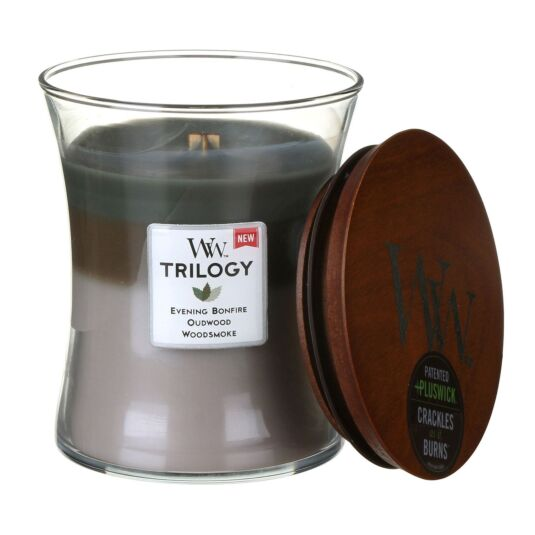 Cozy Cabin Medium Trilogy Candle