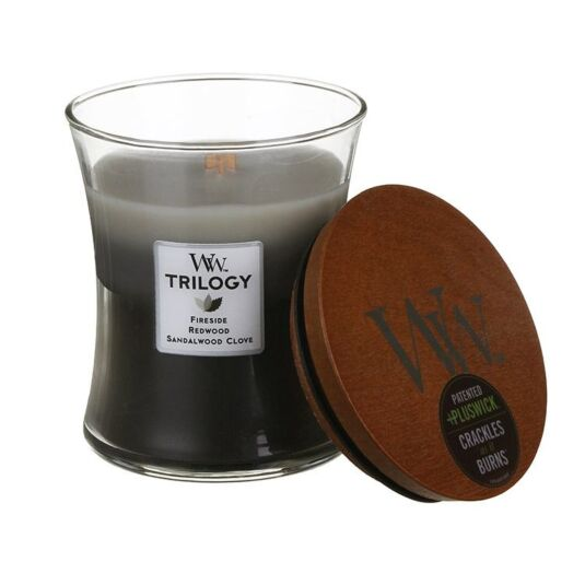 Warm Woods Medium Trilogy Candle