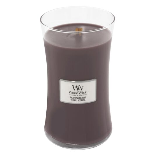 Sueded Sandalwood Large Hourglass Candle