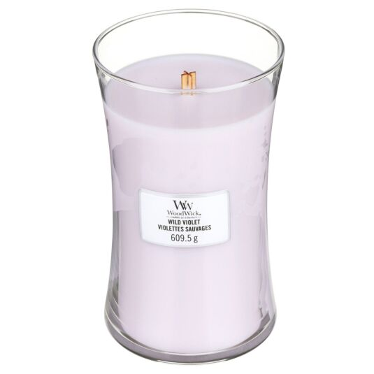Wild Violet Large Hourglass Candle
