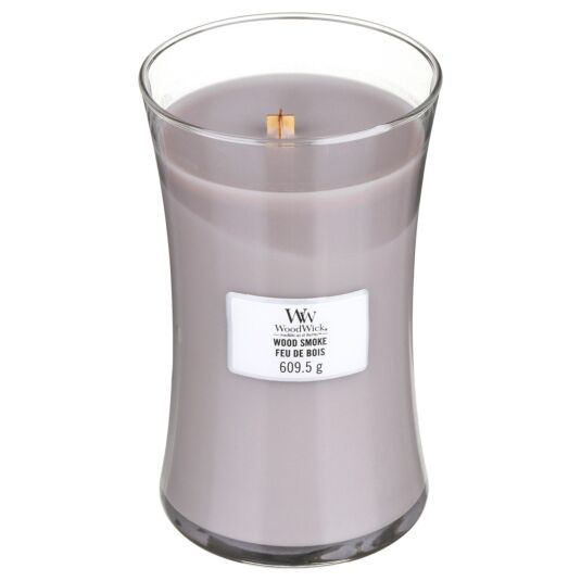 Wood Smoke Large Hourglass Candle