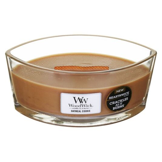 Hearthwick Oval Oatmeal Cookie Candle