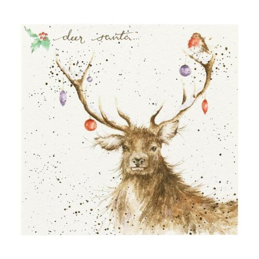'Deer Santa' Christmas Card