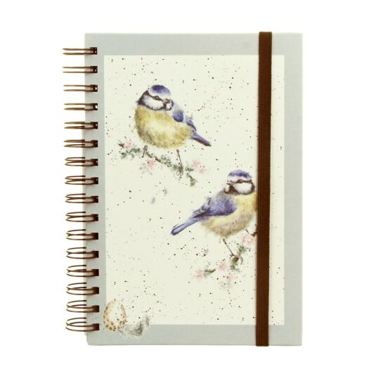 Blue Tit Spiral Bound A5 Notebook