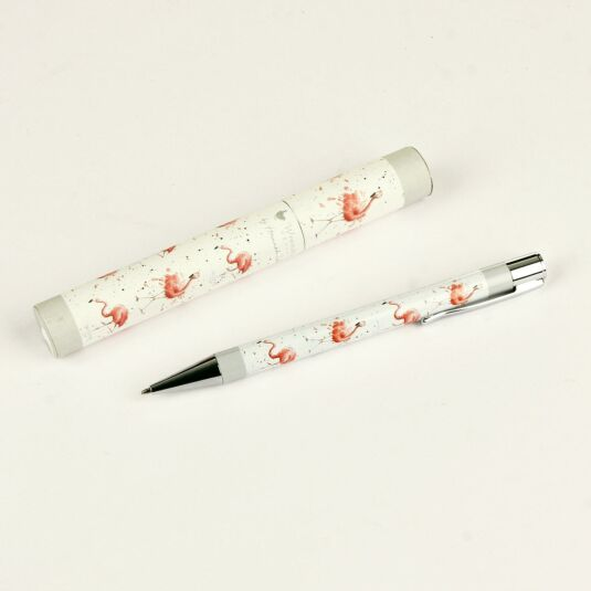 Pretty In Pink Flamingo Pen with Case