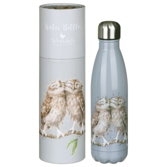 'Birds of a Feather' Owl Water Bottle