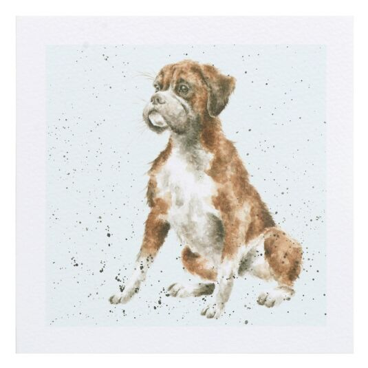 A Dog's Life Boxer Dog Card