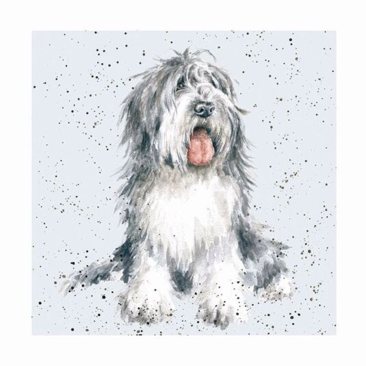 A Dog's Life Old English Sheepdog Card