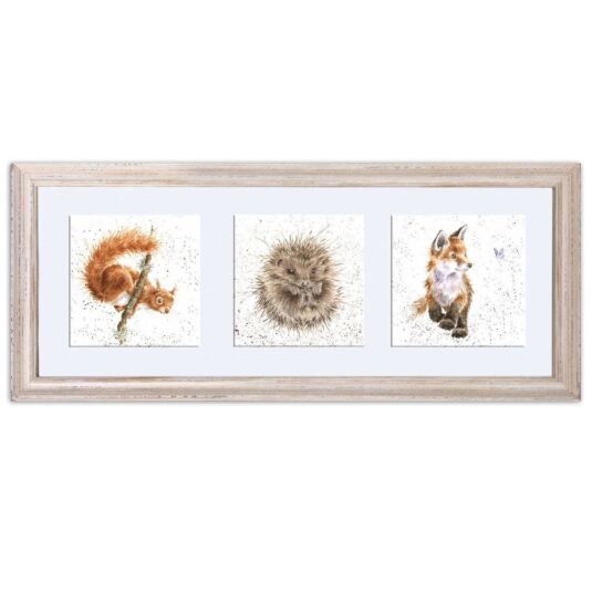 Woodland Trio Triple Print With Cream Frame