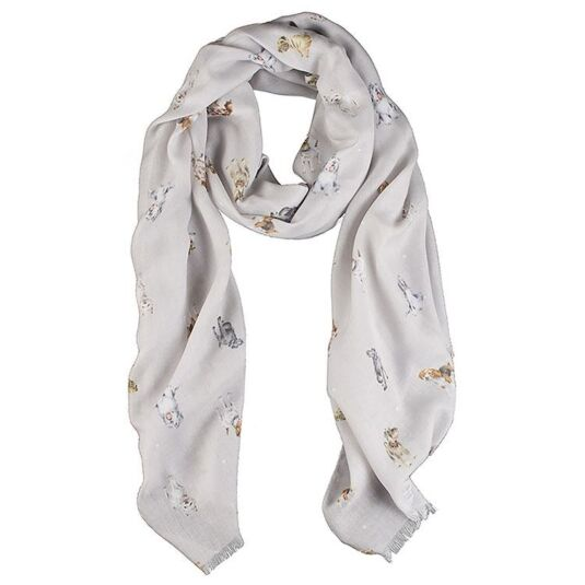 Grey 'A Dog's Life' Scarf