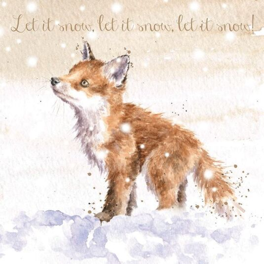 Wedding Day Greeting Card Foxes by Wrendale Designs