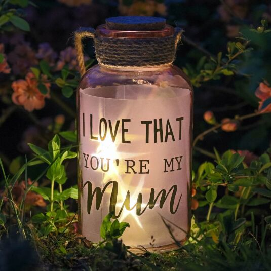 Illuminated 'Mum' Starlit LED Jar