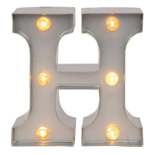 Mini Light Up Letters – H