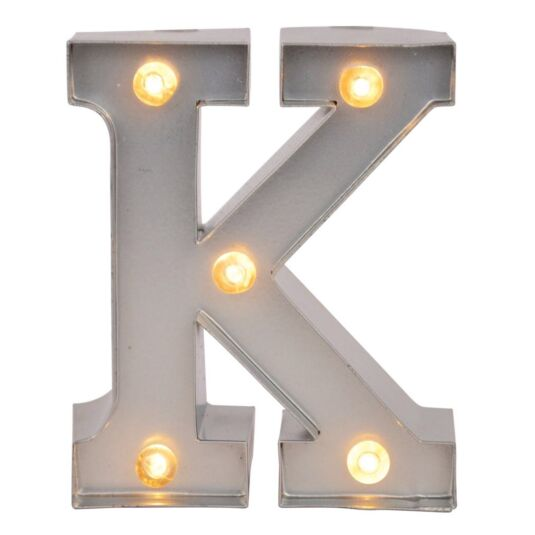 Mini Light Up Letters – K