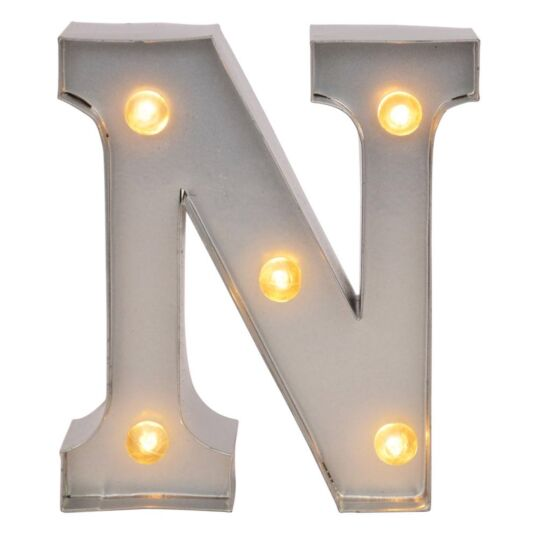Mini Light Up Letters – N