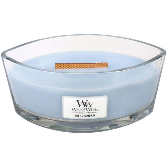 Hearthwick Oval Soft Chambray Candle