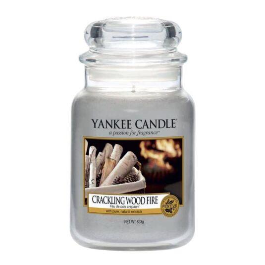 yankee candle crackling wood fire large jar candle. Black Bedroom Furniture Sets. Home Design Ideas