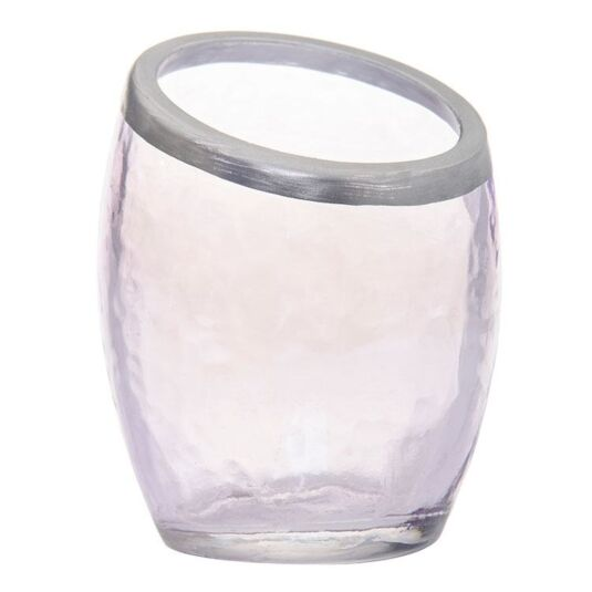 Pearlescent Crackle Purple Votive Holder