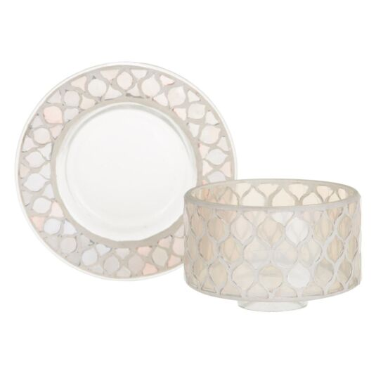 Champagne Pearl Small Shade & Tray