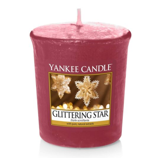Glittering Star Sampler Votive Candle