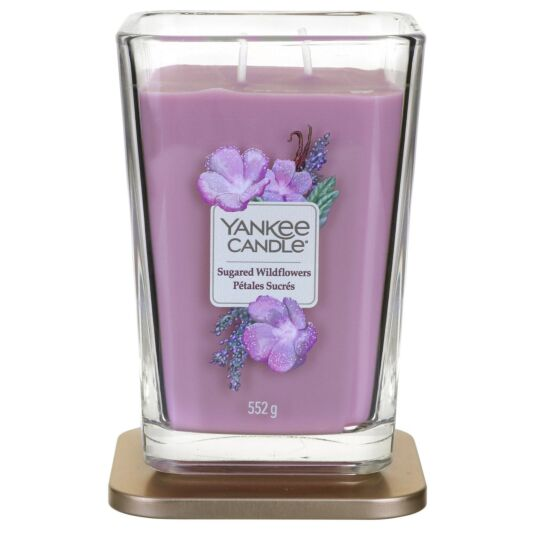 Sugared Wildflowers Large Elevation Candle