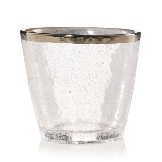 Kensington Metallic Band Glass Votive Holder