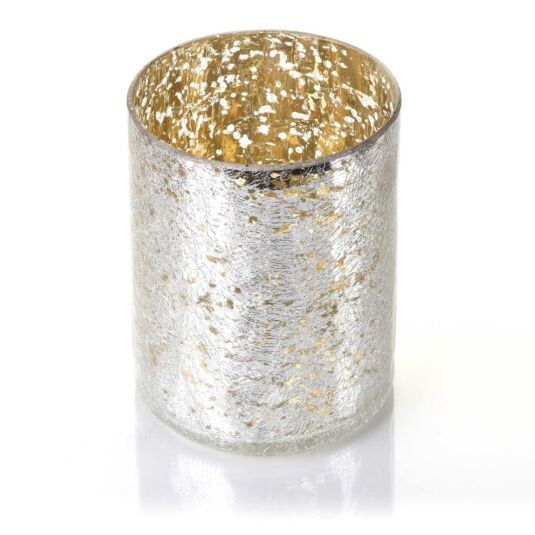 Mercury Crackle Glass Jar Sleeve