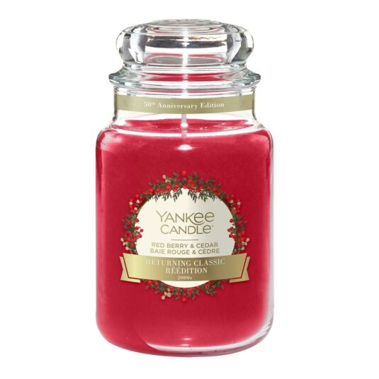 Red Berry & Cedar Large Jar Candle