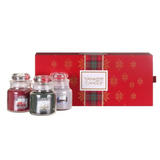 Alpine Christmas Three Small Jar Candles Gift Set