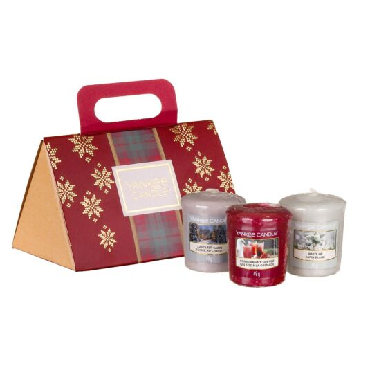 Alpine Christmas Three Votives Purse Gift Set