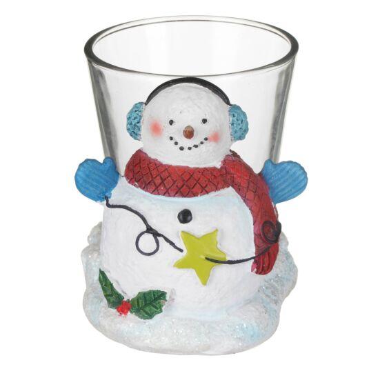 Christmas Snowman Votive Holder