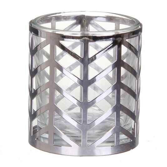 Arrow Chrome Votive Candle Holder