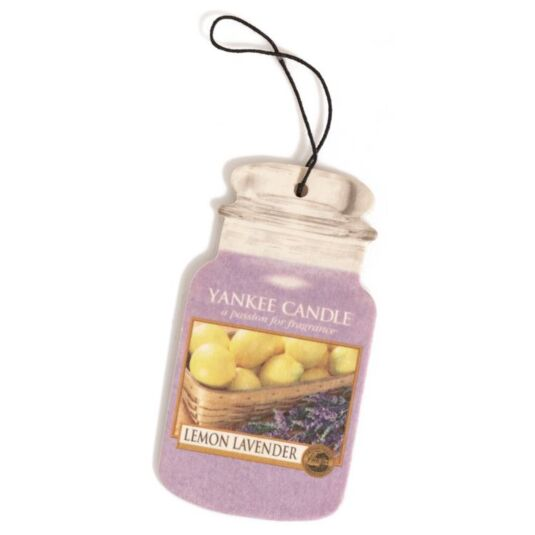 Lemon Lavender Car Jar Air Freshener