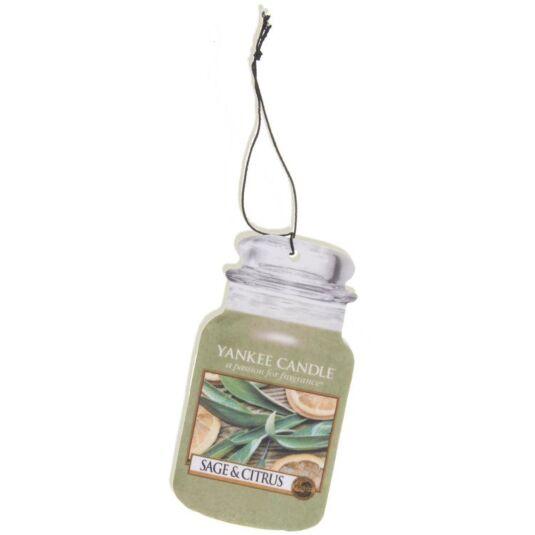 Sage & Citrus Car Jar Air Freshener