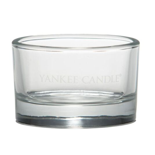 yankee candle clear glass tea light holder temptation gifts. Black Bedroom Furniture Sets. Home Design Ideas