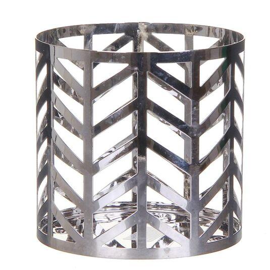 Arrow Chrome Jar Candle Holder