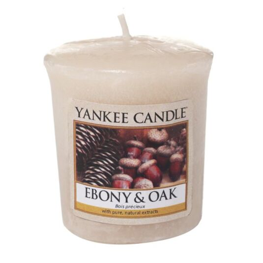 Ebony & Oak Sampler Votive Candle