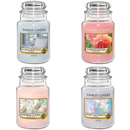 Enjoy the Simple Things Set of Four Large Jar Candles