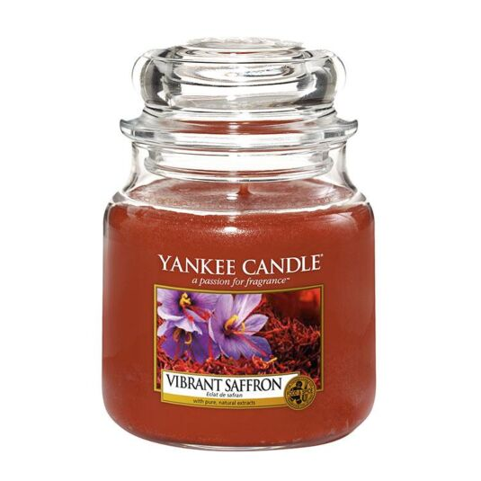 Vibrant Saffron Medium Jar Candle