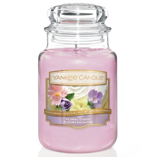 Sunday Brunch Floral Candy Large Jar Candle