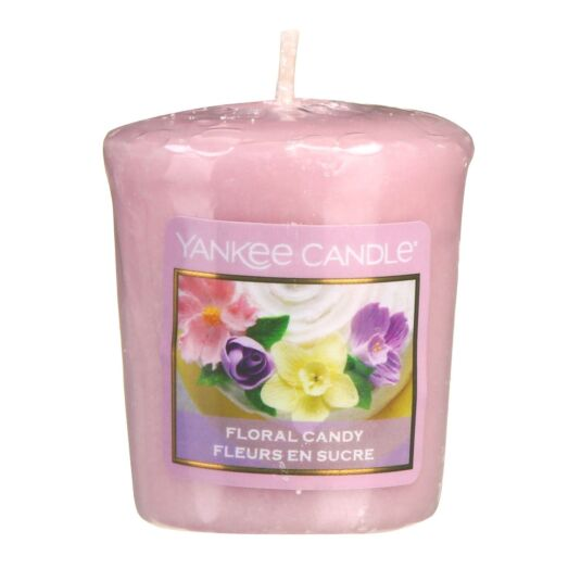 Sunday Brunch Floral Candy Votive Candle