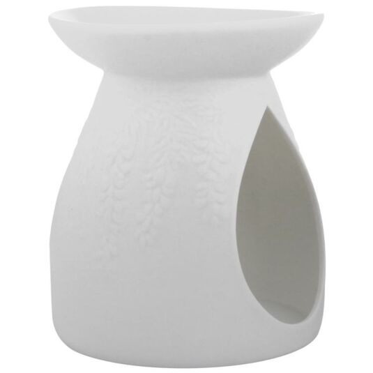 Fern White Ceramic Wax Melts Warmer