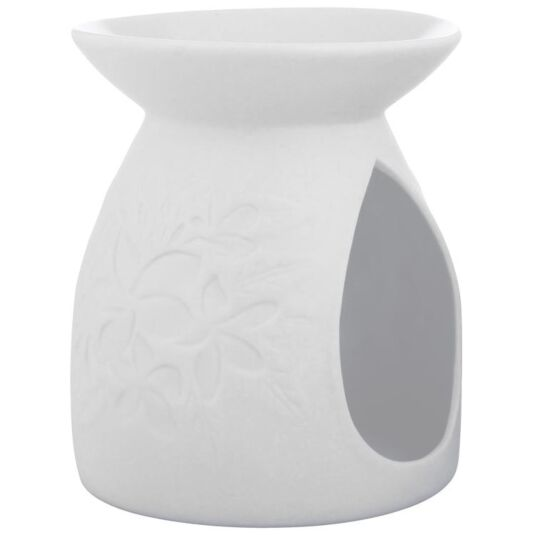 Floral White Ceramic Wax Melts Warmer