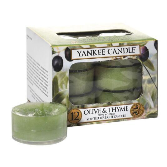 Olive & Thyme Pack of 12 Tealights
