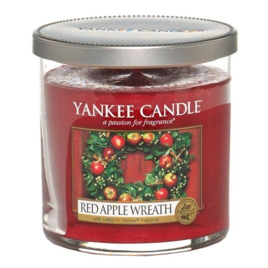 Red Apple Wreath Décor Small Pillar Candle