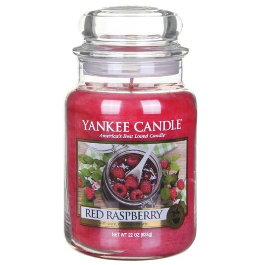 Red Raspberry Large Jar Candle