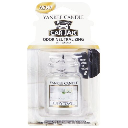 Yankee Candle Fluffy Towels Car Jar Ultimate | Temptation Gifts
