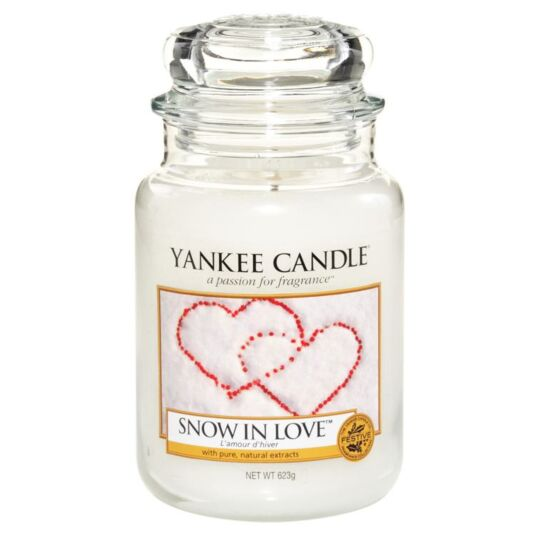 Snow In Love Large Jar Candle