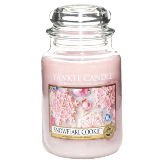 Snowflake Cookie Large Jar Candle