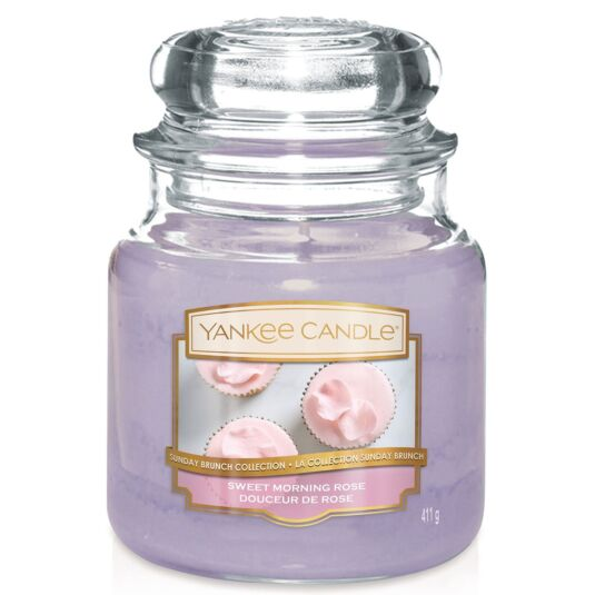 Sunday Brunch Sweet Morning Rose Medium Jar Candle